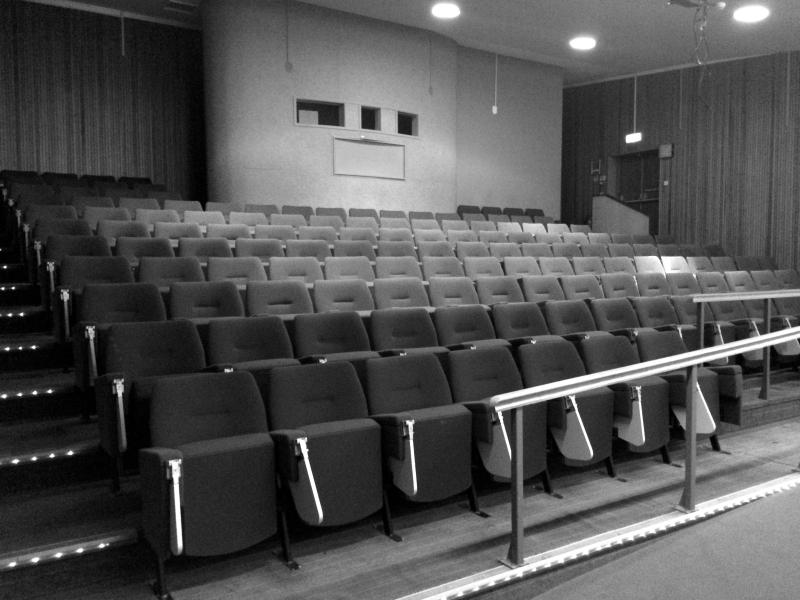 Lecture theatre prior to strip out and refurbishment