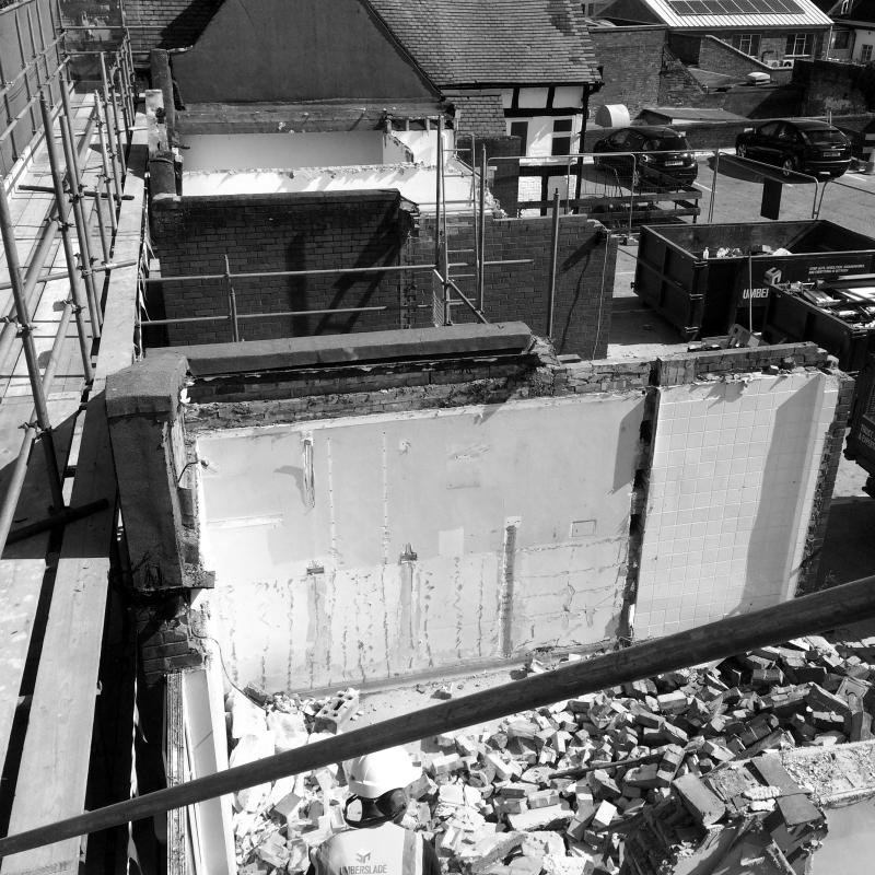 Walls to be demolished