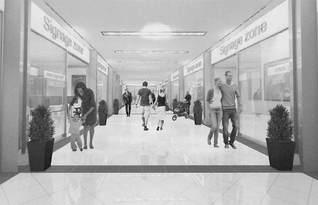 Artist's impression of the new shopping experience