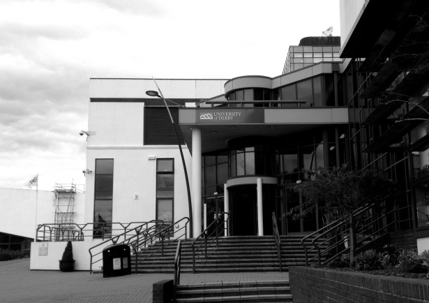 Entrance to The University of Derby