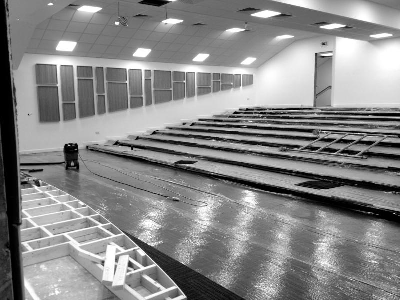 Refurbishment of the lecture theatre in progress