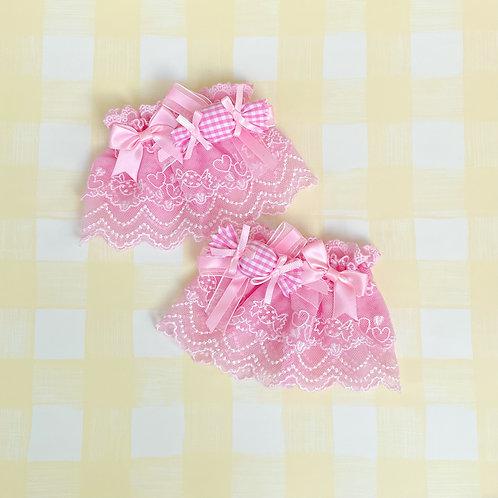 Sweet Candy Ribbon Bows Wrist Cuffs