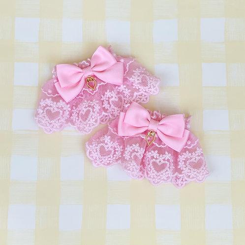 Floral Hearts Wrist Cuffs