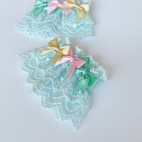 Dreamy Colorful Triple Ribbons Wrist Cuffs