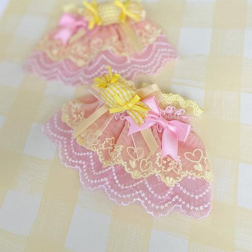 Sweet Candy Ribbon Bows Color Scheme Wrist Cuffs