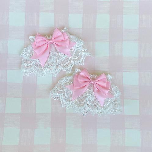 Cute Ribbon Sweet Heart Lace Wrist Cuffs