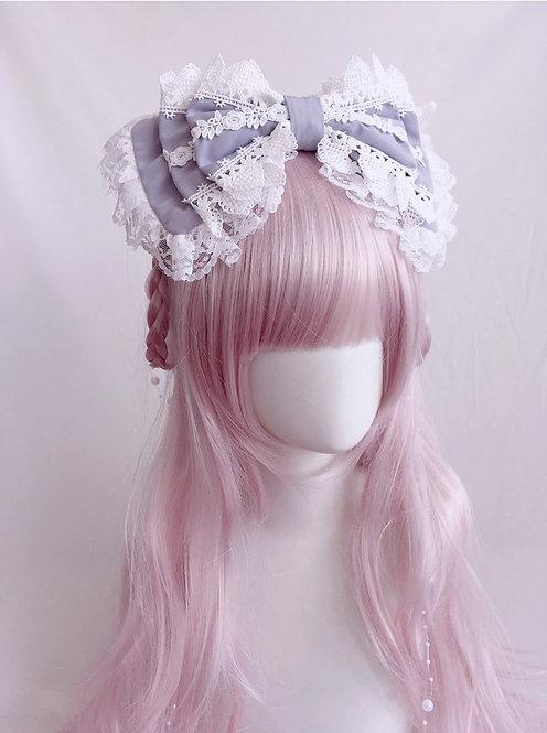 Sweet Heart Lace Head Bow