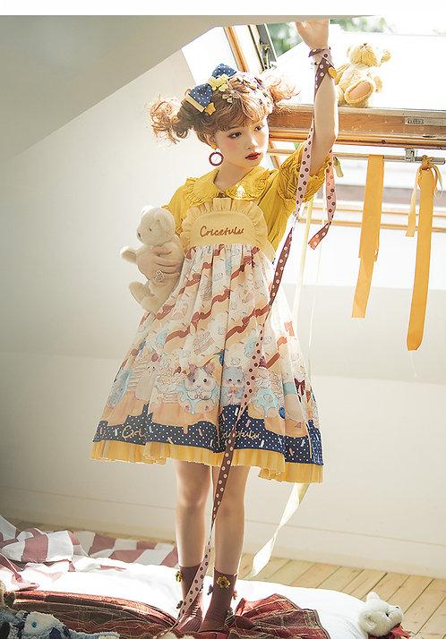 Cubby Hamster Apron Style  JSK