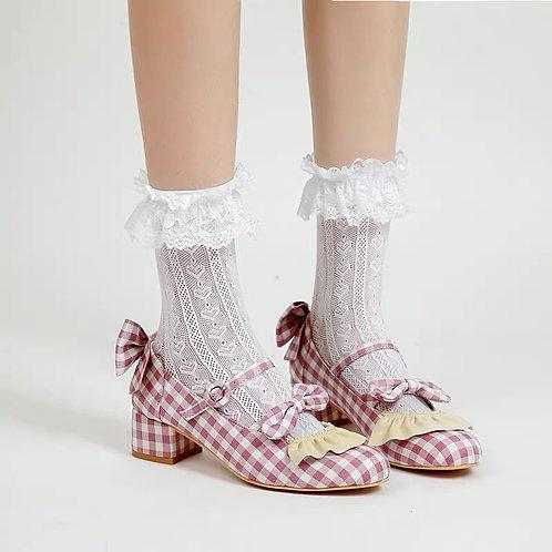 Ruffle Gingham Shoes