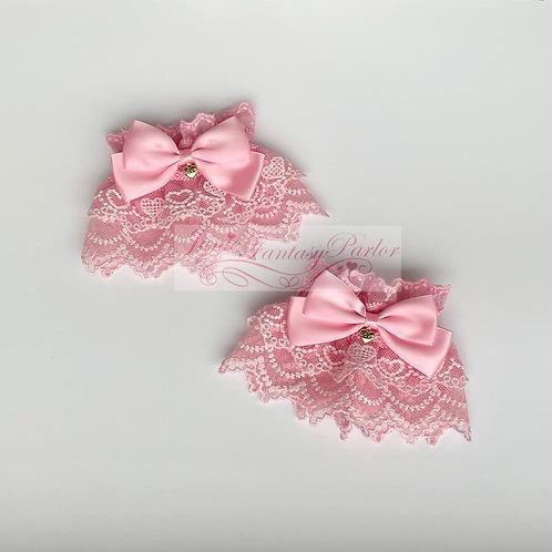 Sweet Heart Lace Wrist Cuffs