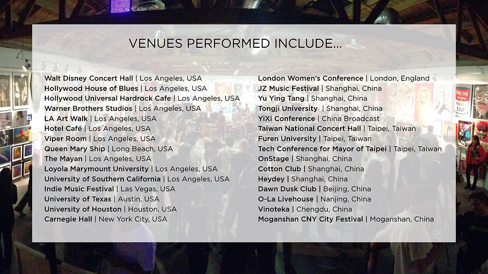 Dolce Wang Venues Performed