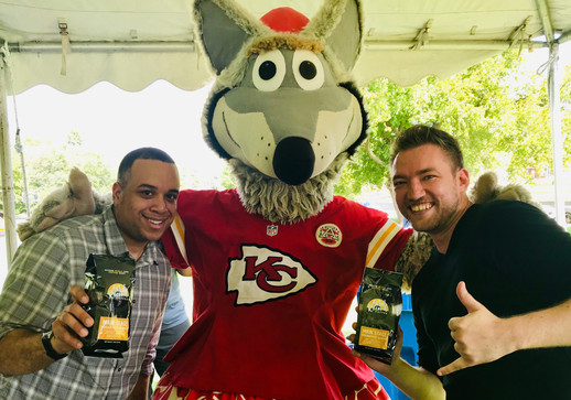 Gold Record Coffee and the Kansas City Chiefs - K.C. Wolf