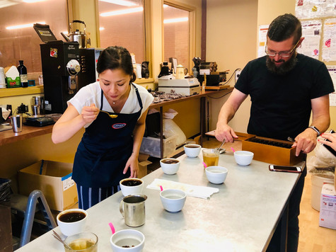 Gold Record Coffee - Coffee cupping