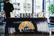 Gold Record Coffee - Free samples, tradeshow, booth setup, coffee booth