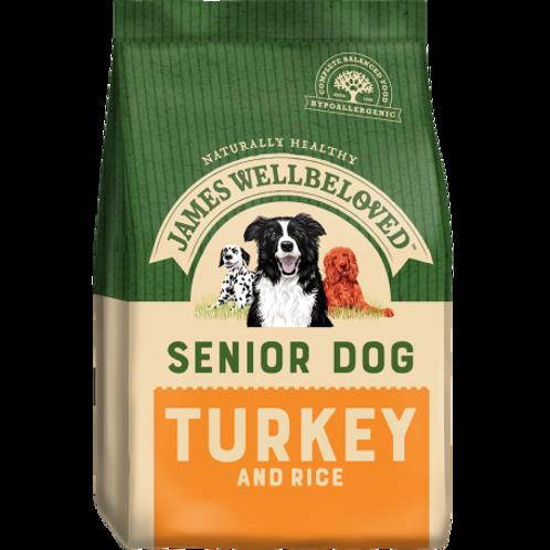 James wellbeloved turkey & rice senior 2kg