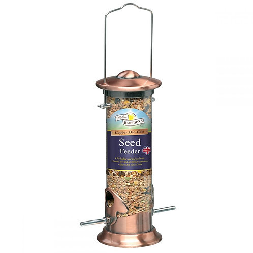 Harrisons copper plated seed feeder 20cm