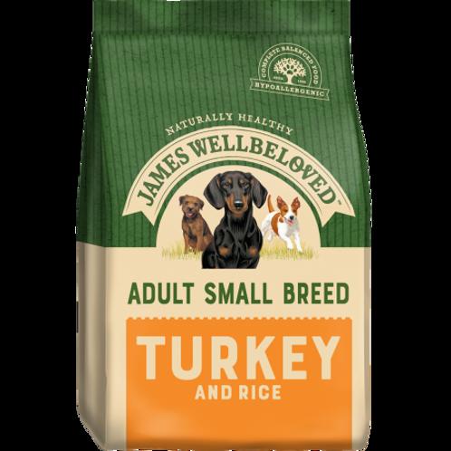 James wellbeloved turkey & rice small breed 1.5kg