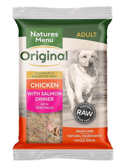 Natures menu chicken & salmon dinner 300g