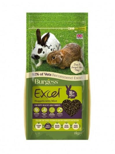 Burgess excel rabbit adult with mint 4kg
