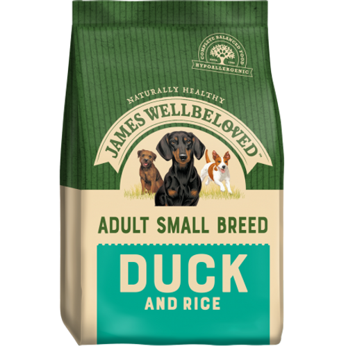James wellbeloved small breed duck & rice 1.5kg