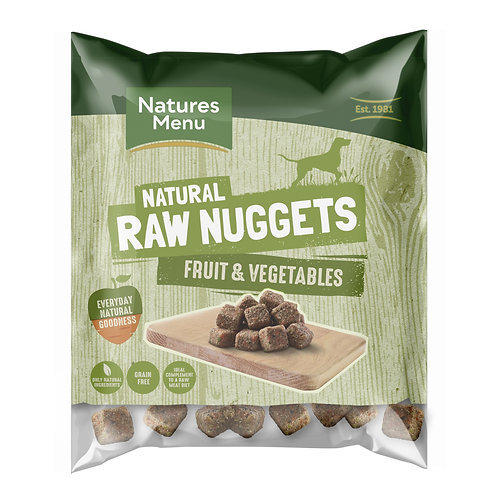 Natures menu fruit & vegetable nuggets 1kg