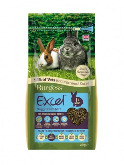 Burgess excel junior and dwarf rabbit 2kg
