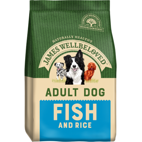 James wellbeloved fish & rice 2kg
