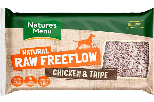 Natures menu freeflow chicken & tripe 2kg