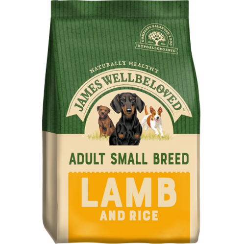 James wellbeloved lamb & rice small breed 7.5kg