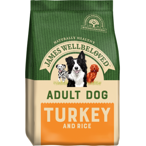 James wellbeloved turkey & rice adult 2kg