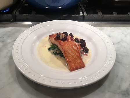 Salmon with Cherry Compote
