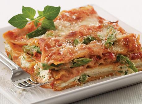 Asparagus & Shrimp Lasagna