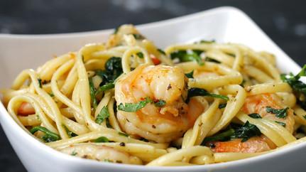Spaghetti and Shrimp