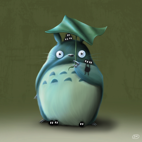 Totoro and the soot sprites