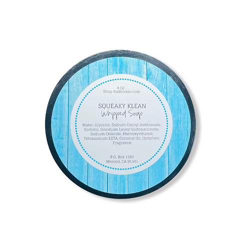 Squeaky Klean Whipped Soap