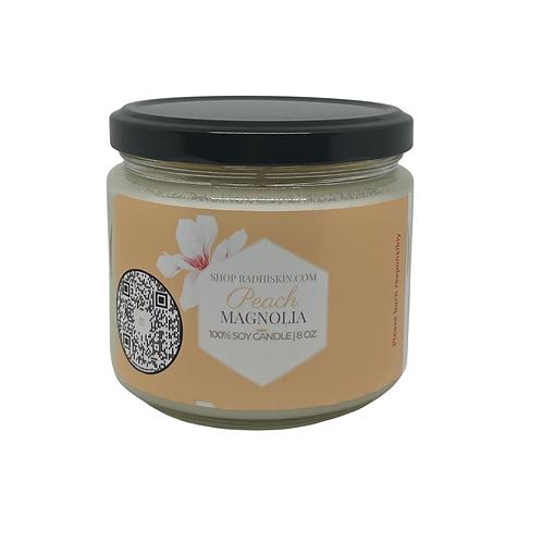 Peach Magnolia 8 OZ Candle