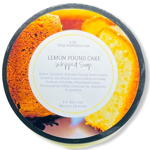 Lemon Pound Cake Whipped Soap