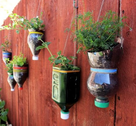 Turning Plastic waste into Magical Planters