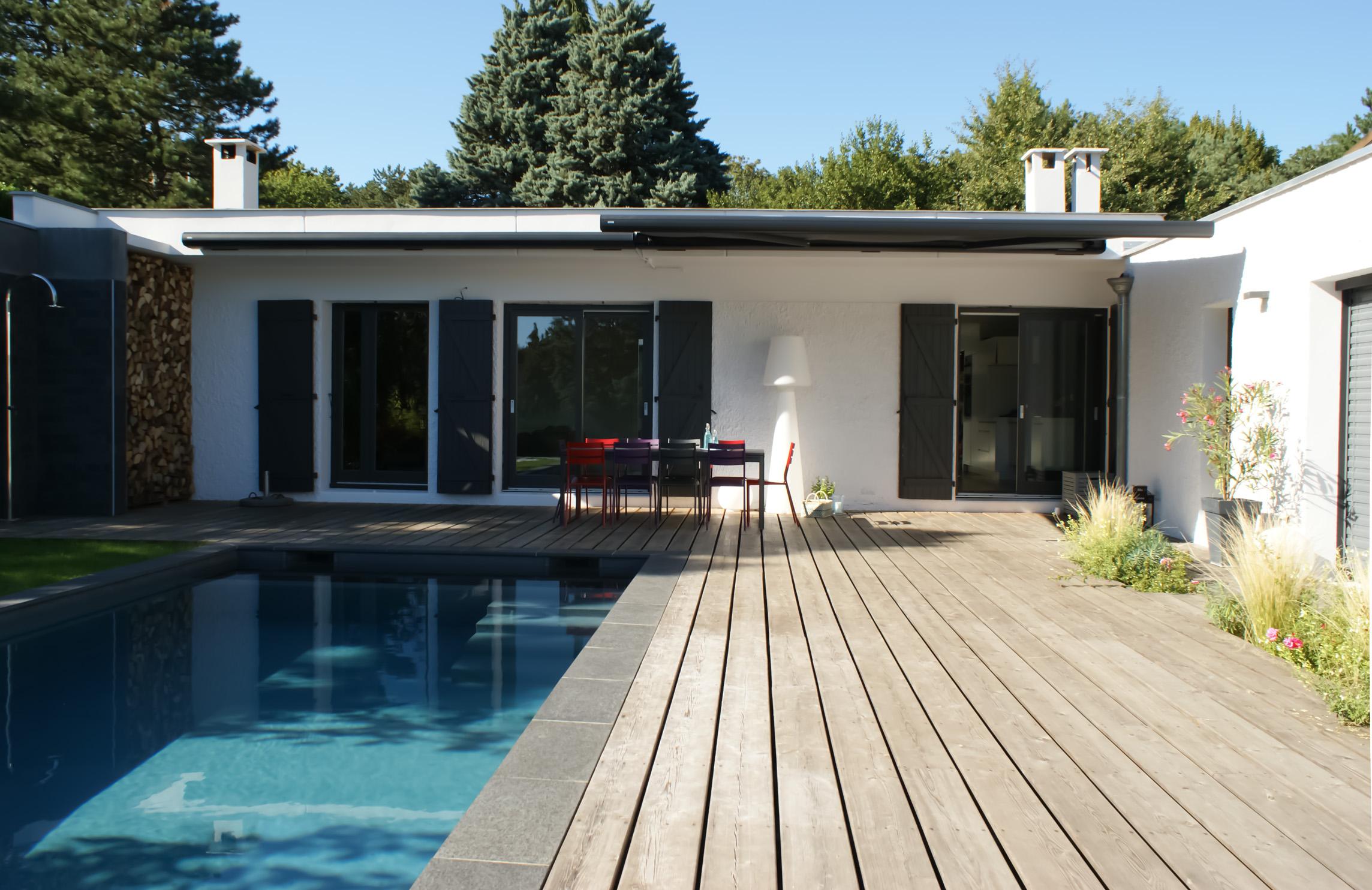 Projet d'aménagement de jardin avec une piscine maçonnée