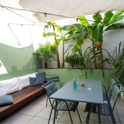 Aménagements des espaces extérieurs d'un appartement lyonnais