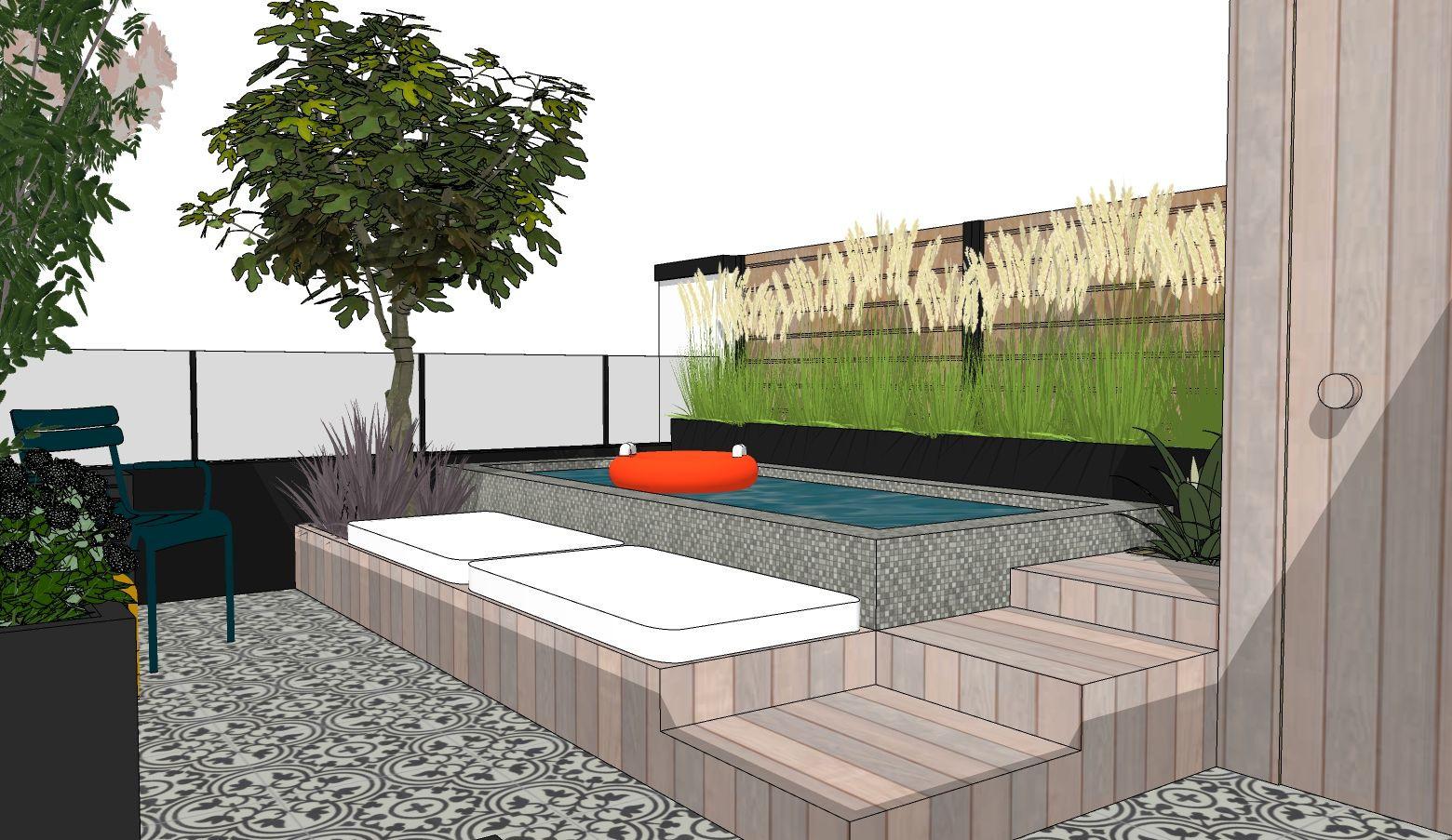 Modélisation 3D du projet de la piscine