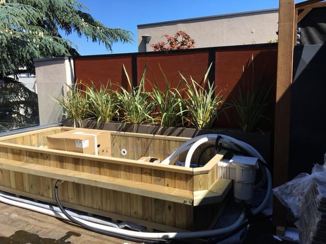 De l'avant-projet au chantier : le choix des matériaux et des végétaux ; le dessin des élements sur-mesure