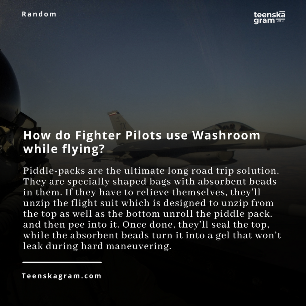 How do Fighter Pilots use Washroom while flying?