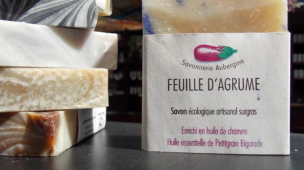 SAVON ARTISANAL FEUILLE D'AGRUME Bio