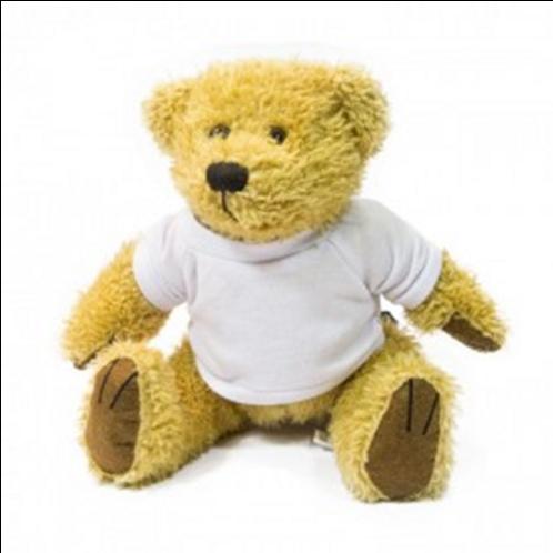 18cm Sublimation Teddy Bear - Light Brown & Dark Brown