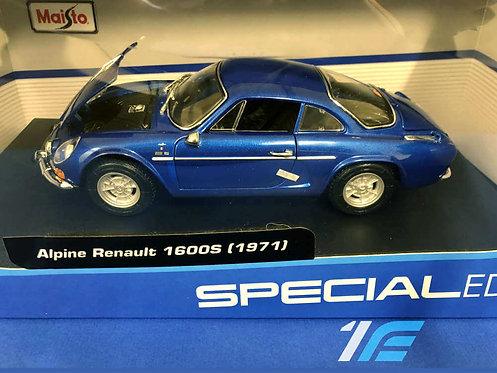 Alpine Renault 1600s (1971) Maisto 1:18 special edition Alpine A110