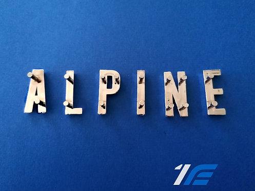 """lettres détachées""""alpine"""" plastique de face avant Alpine A110"""
