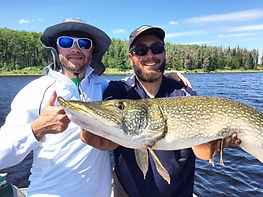 Catch huge Northern in Canada