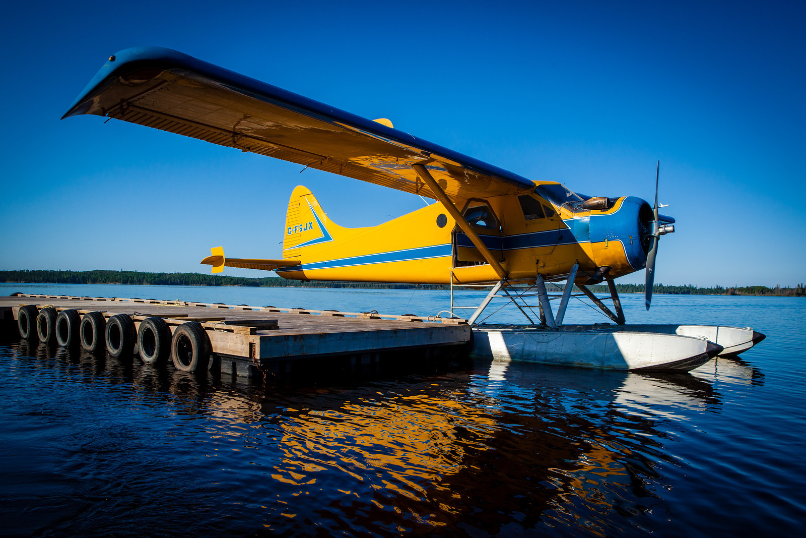 float plane at a dock