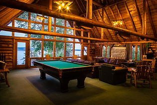 Saborin Lake Lodge log cabin Interior